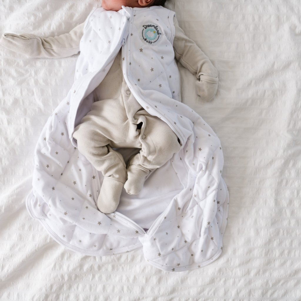 Dream Weighted Sack w/ Swaddle Wing, 0-6 mo. - Dreamland Baby