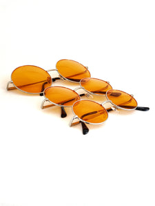 Retro Circle Sunglasses - Orange