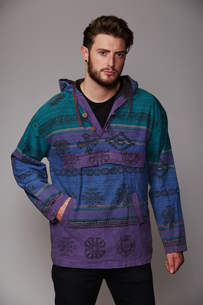 Multi colored BAJA Hoody
