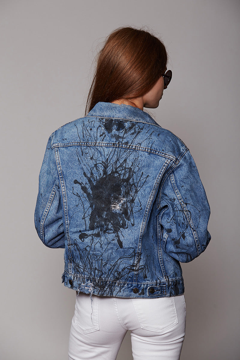 Distressed Custom Painted Denim Vintage Jacket by Levi's