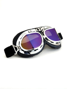 Biker Style Retro Goggles - Multi coloured