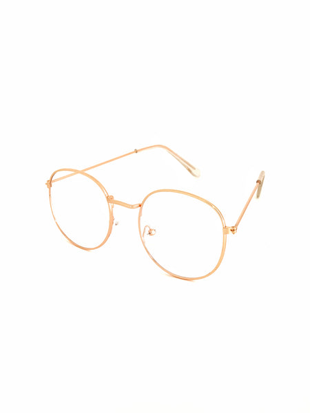 Retro Circle Sunglasses - Clear