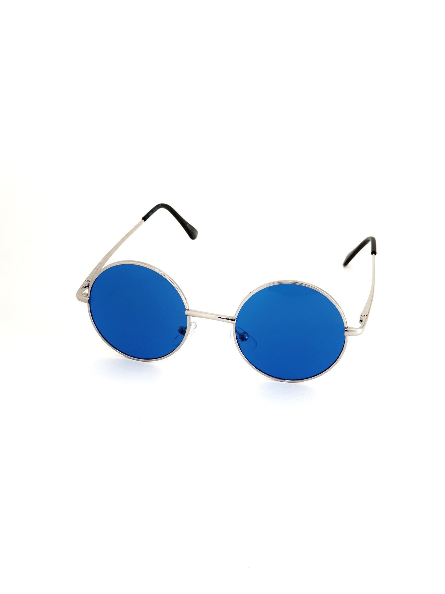 Retro Circle Sunglasses - Blue