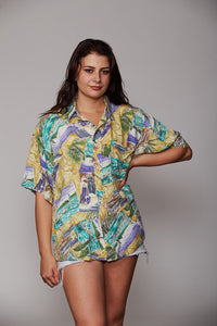 Abstract vintage pattern shirt