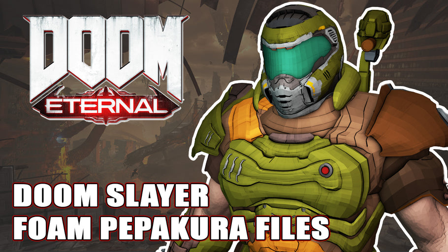 DOOM ETERNAL SLAYER PRAETOR SUIT 3D MODEL FOR FOAM PEPAKURA