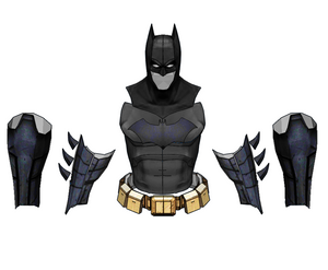 Batman Mask / Armor Cosplay Parts Set Foam Pepakura File Templates