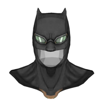 Load image into Gallery viewer, Batman Justice League Tactical Cowl FOAM Cosplay Pepakura File Template