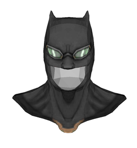 Batman Justice League Tactical Cowl FOAM Cosplay Pepakura File Template