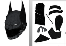Load image into Gallery viewer, Batman Beyond Helmet Cosplay Foam Pepakura File Template