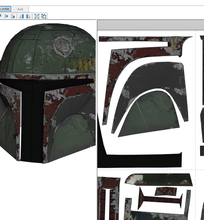 Load image into Gallery viewer, Boba Fett Cosplay Foam Helmet Pepakura File Template