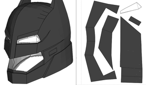 Batman DOJ Helmet FOAM Cosplay Pepakura File Template