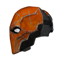 Load image into Gallery viewer, Deathstroke Arkham Origins Helmet Cosplay Foam Pepakura File Template
