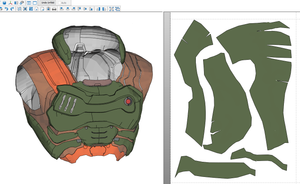 Doom Eternal Slayer Praetor Armor Foam Cosplay Pepakura File Templates