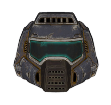 Load image into Gallery viewer, Classic Doom Guy / Doom Marine Helmet Foam Cosplay Pepakura File Template