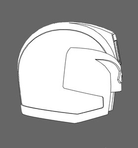 DREDD Cosplay Foam Helmet Pepakura file (2012 Version)