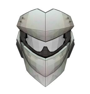 Genji  Blackwatch Helmet FOAM Cosplay Pepakura File Template - Overwatch