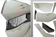 Load image into Gallery viewer, Genji  Blackwatch Helmet FOAM Cosplay Pepakura File Template - Overwatch