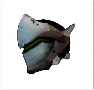 Genji Helmet FOAM Cosplay Pepakura File Template - Overwatch