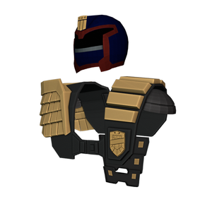 Judge Dredd Cosplay Foam Pepakura File Template (1995 Stallone Version)