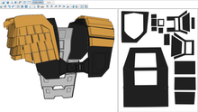 Load image into Gallery viewer, Judge Dredd Cosplay Foam Pepakura File Template (1995 Stallone Version)