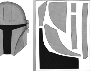 The Mandalorian Cosplay Beskar Armor Foam Pepakura File Templates