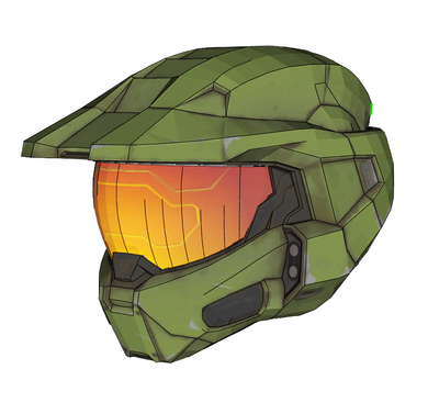 Halo Infinite Master Chief Helmet Cosplay Foam Pepakura File Template