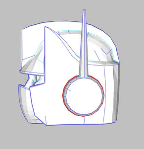 Optimus Prime - G1 Transformers Helmet Foam Cosplay Pepakura File