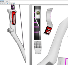 Load image into Gallery viewer, MMPR Pink Ranger Power Bow FOAM Pepakura File Template