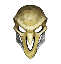 Load image into Gallery viewer, Reaper Mask FOAM Cosplay Pepakura File Template - Overwatch