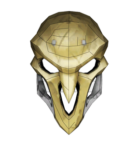 Reaper Mask FOAM Cosplay Pepakura File Template - Overwatch