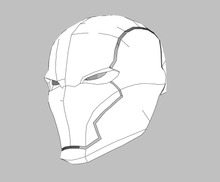 Load image into Gallery viewer, Red Hood Rebirth Cosplay Helmet Foam Pepakura File Template