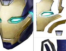 Load image into Gallery viewer, Pepper Potts Rescue Cosplay Helmet Foam Pepakura File Template - Avengers: Endgame