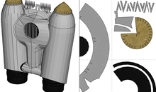 Load image into Gallery viewer, Rocketeer Helmet + Jetpack Cosplay FOAM Pepakura File Templates