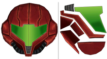Load image into Gallery viewer, Metroid Samus Helmet Cosplay FOAM Pepakura File Template