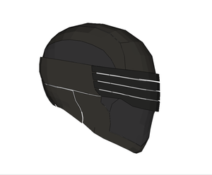 GI JOE Snake Eyes Helmet FOAM Pepakura File Template