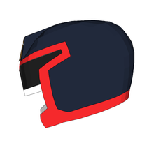 Load image into Gallery viewer, Judge Dredd Helmet Foam Cosplay Pepakura File Template (1995 Stallone Version)