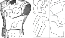 Load image into Gallery viewer, Thor - Infinity War - Foam Cosplay Armor Pepakura File Template