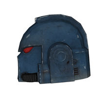 Load image into Gallery viewer, Warhammer 40K Space Marine Helmet Cosplay Foam Pepakura File Template