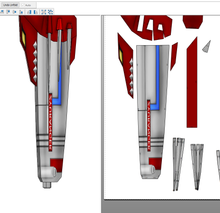 Load image into Gallery viewer, MMPR Power Rangers Blade Blaster FOAM Pepakura File Template