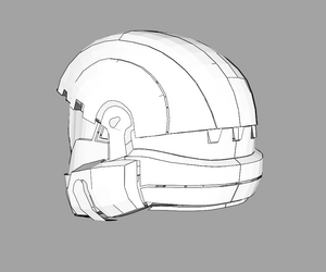 Halo 3 ODST Helmet Foam Cosplay Pepakura File Template