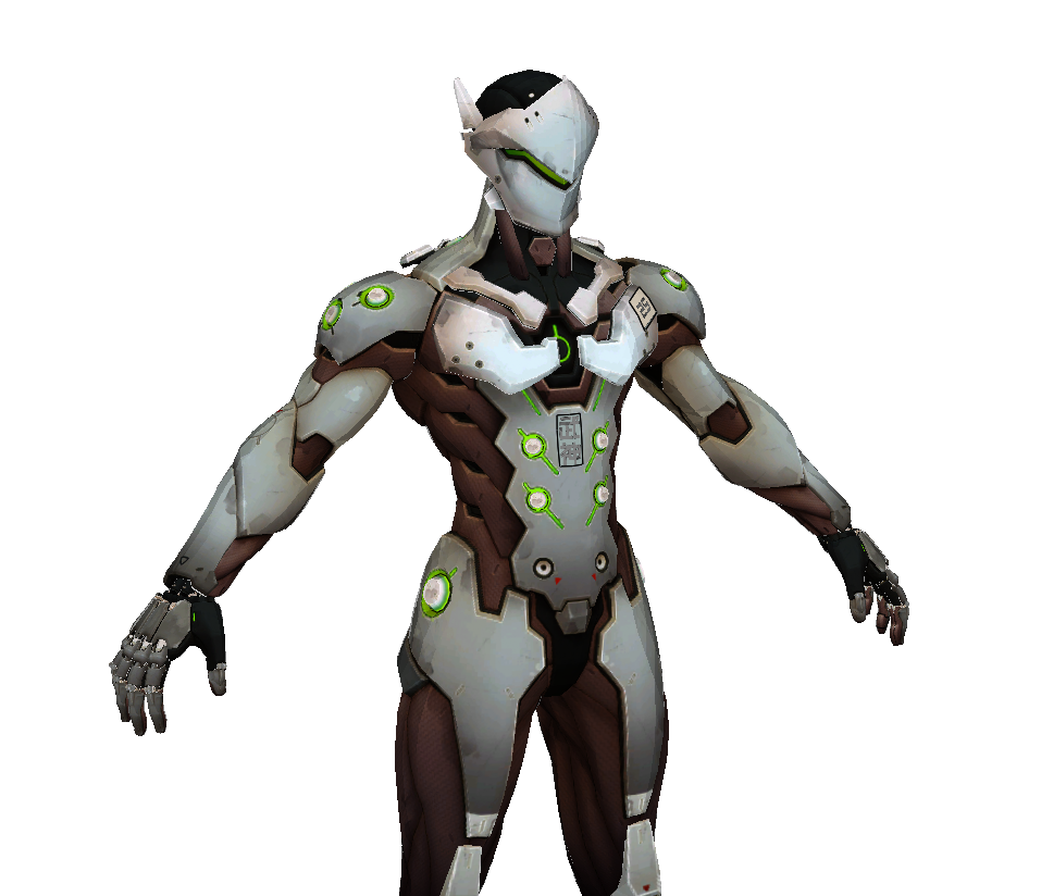 Genji Cosplay FOAM Pepakura File Templates - Overwatch