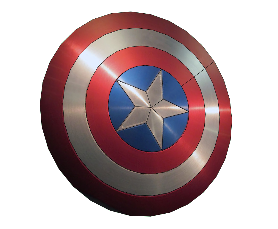 Captain America Shield FOAM Pepakura File Template