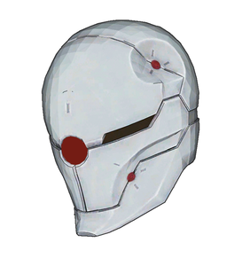 Cyborg Ninja Gray Fox Helmet Foam Cosplay Pepakura File Template