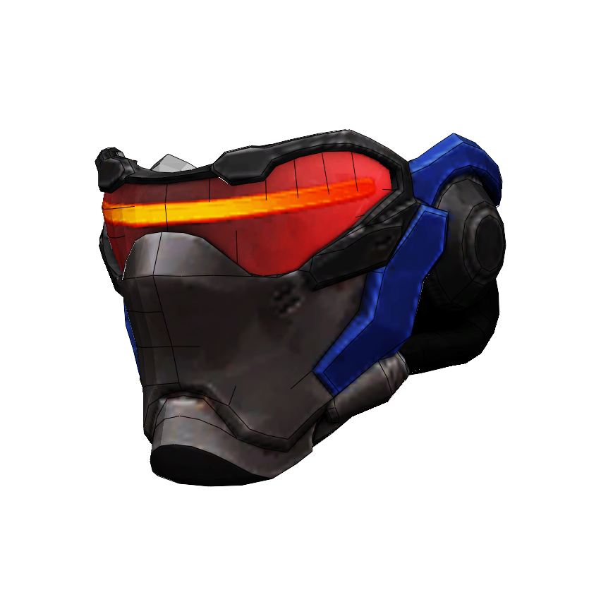 Soldier 76 Overwatch Cosplay Foam Helmet Pepakura File Template