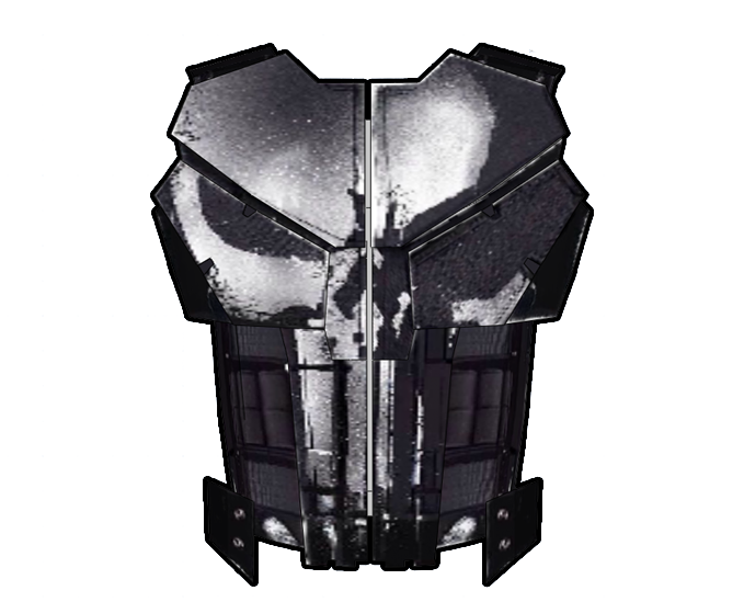 Punisher Cosplay Vest Foam Armor Pepakura File Template (Netflix Version)