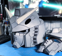 Load image into Gallery viewer, RX-78-2  Gundam Cosplay Foam Helmet -  Pepakura File Template