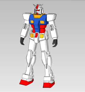 RX-78-2 Gundam Cosplay Full Foam Pepakura File Templates