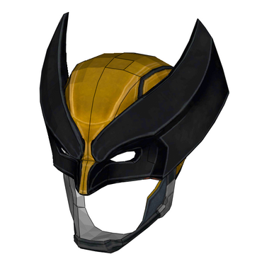 Wolverine Armored Cowl/Mask FOAM Cosplay Pepakura File Template - X-Men