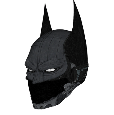 Batman Beyond Helmet Cosplay Foam Pepakura File Template