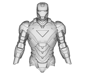 Iron Man Mark 6 Armor Cosplay Foam Pepakura File Templates